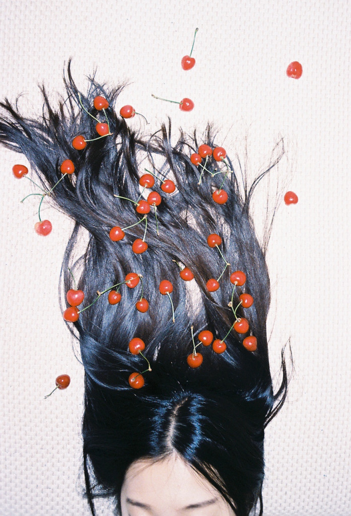 hair with red dots