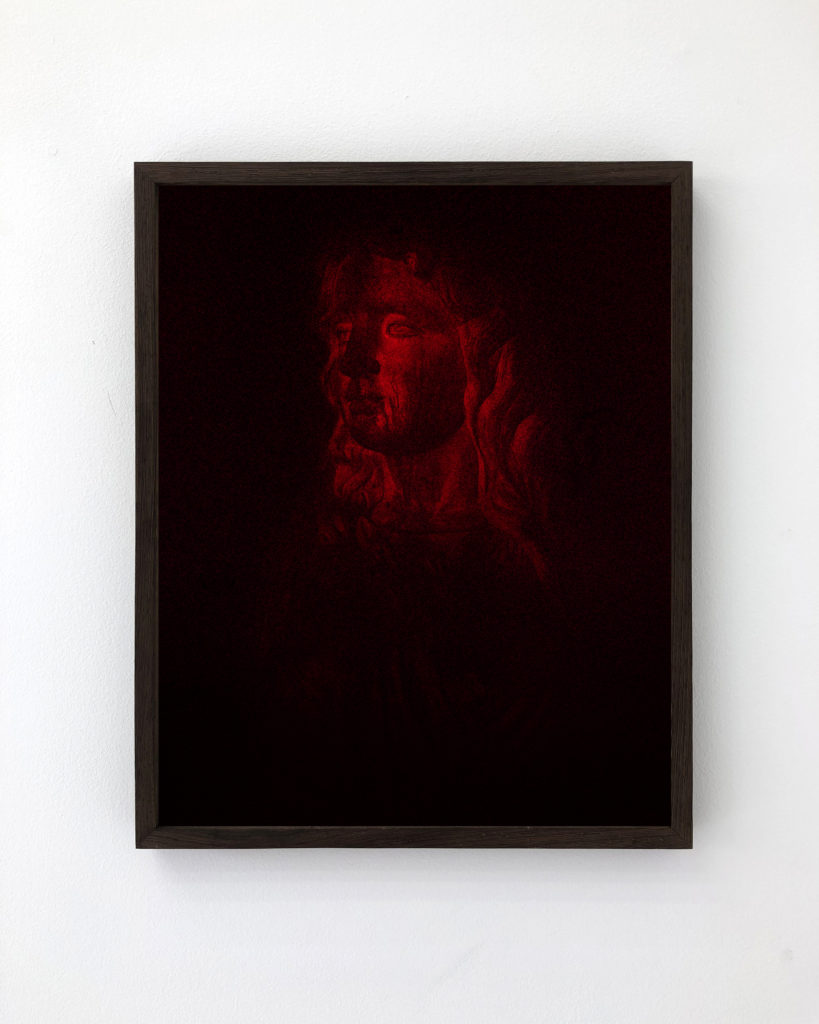 Red Statue, 201750 x 40 cm, Archival Pigment Print, Edition of 3
