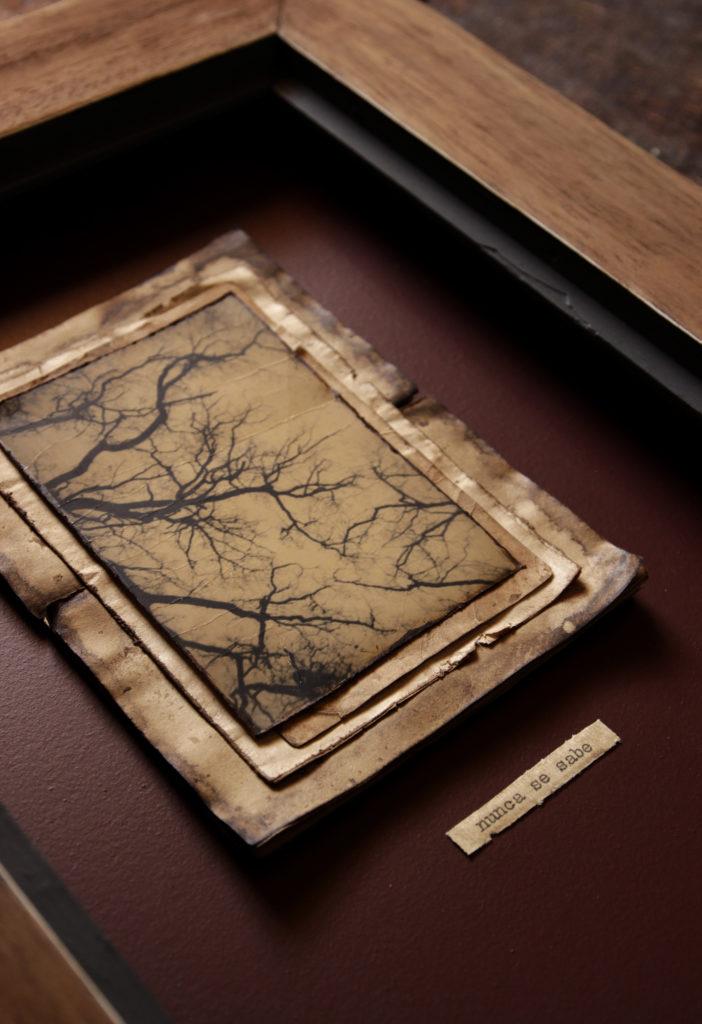 Juanan Requena, Print in wooden, 37x32cm (10,5x7 cm), Silver Gelatin Print, Unique
