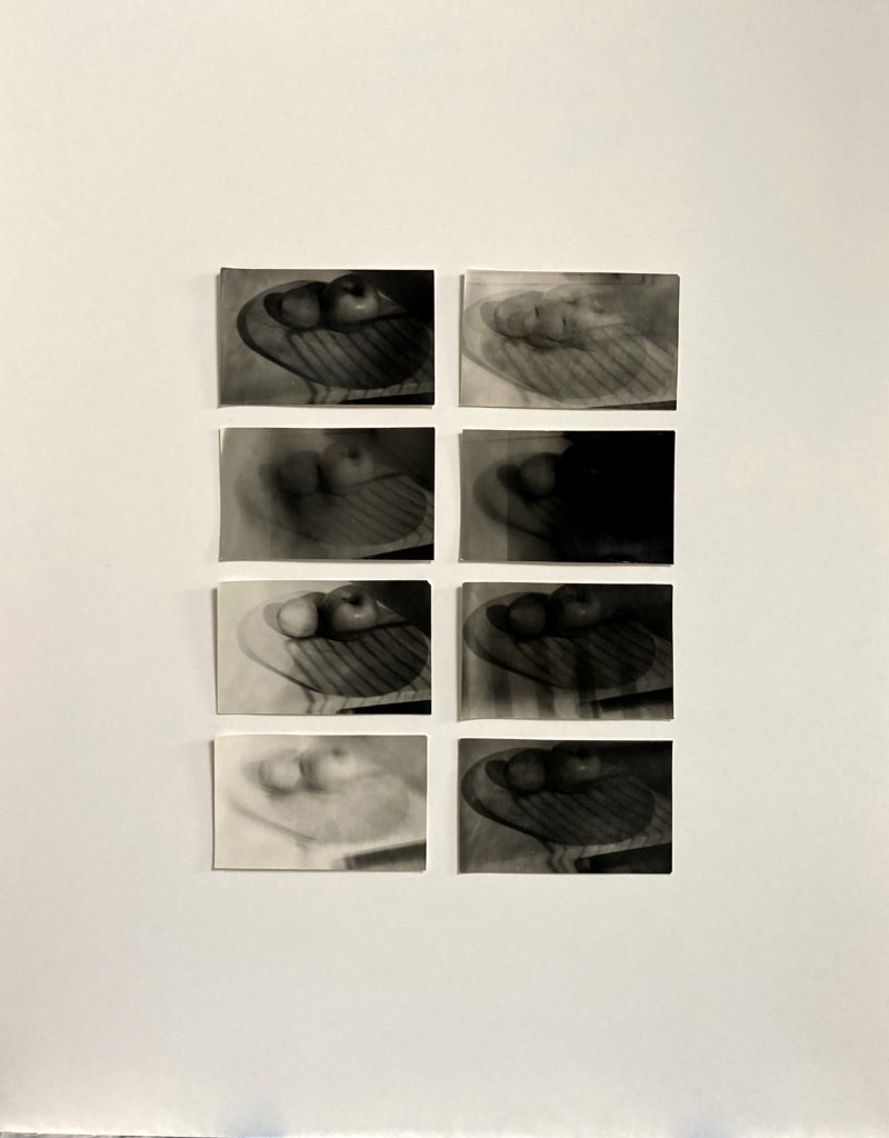 Domestic violence part I, 2020, Collage of eight Silver gelatin prints, framed 40x50 cm, unique work